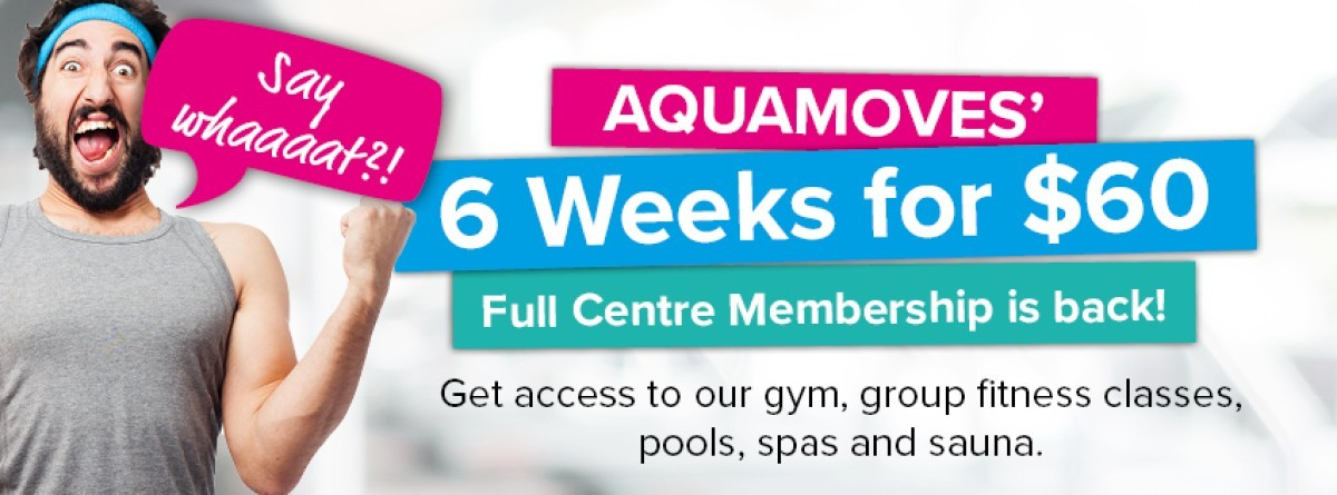 Aquamoves 6 Weeks for 60 Facebook Time