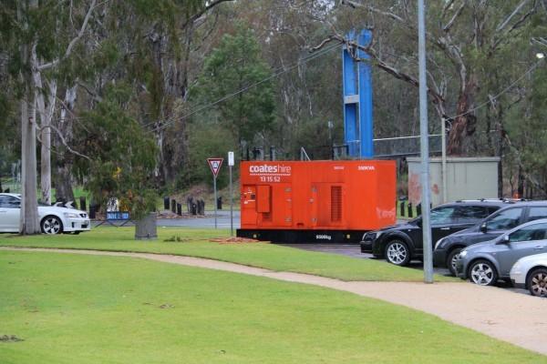 Coates Hire Generator - Aquamoves - Car Park - July 2015