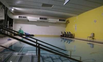 Hydrotherapy pool temperature low