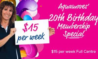 Aquamoves' 20th Birthday Membership Special