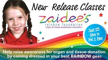 Zaidee's Rainbow Group Fitness Launches