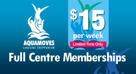 $15 a week Full Centre Memberships