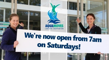 We're now open from 7am on Saturdays!