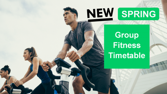 Spring Group Fitness Timetable
