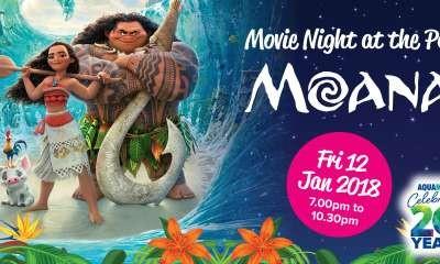 Movie Night at the Pool - Watch 'Moana' at Aquamoves!