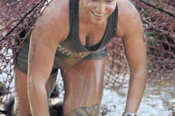 Erin Saunders - Mad Cow Mud Run - Picture from The Shepparton News on 22 February 2017