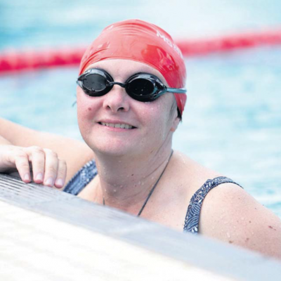 Liz Arcus - Shepp MS Mega Swim - Aquamoves - from The Shepparton News 20 February 2017