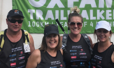 Team of four conquer Oxfam 100km Trailwalker
