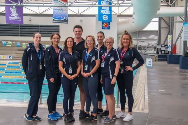 PerfectGym's Australian manager Matt Inglis with some of the Aquamoves Team.
