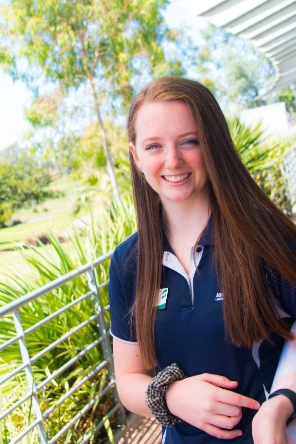 Aquamoves Customer Service Officer Erin Scott loves keeping active.