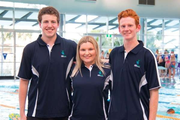 Aquamoves team members Ryley, Emily and Jonah.