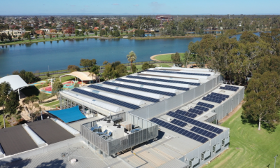 Solar panels installed on Aquamoves and Shepparton Saleyards rooftops