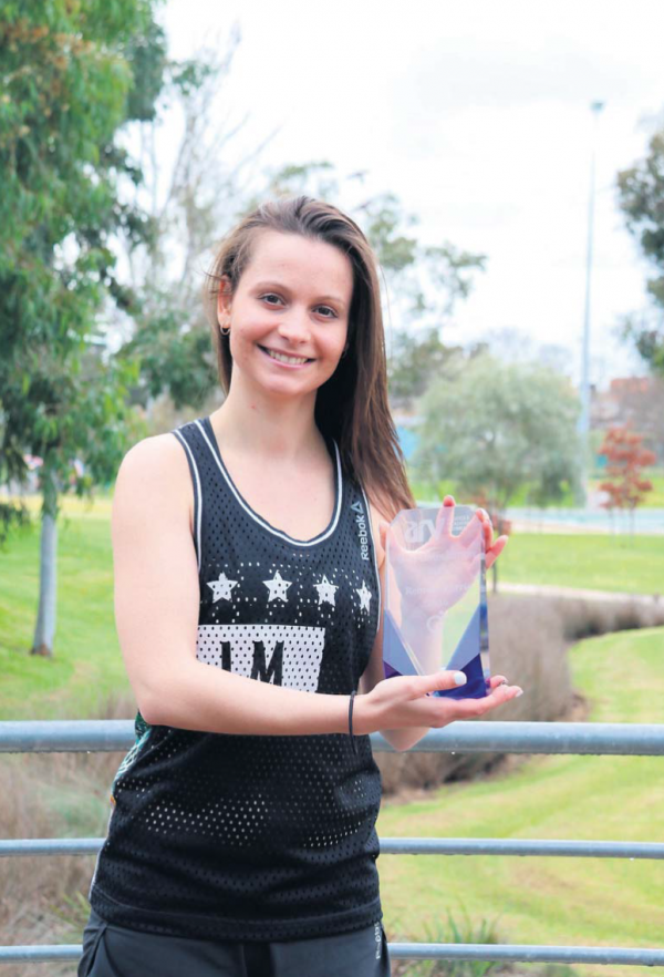 Industry award winner: Aquamoves gym instructor Bec Parris has won an award for her outstanding achievements in the aquatic and recreation industry.