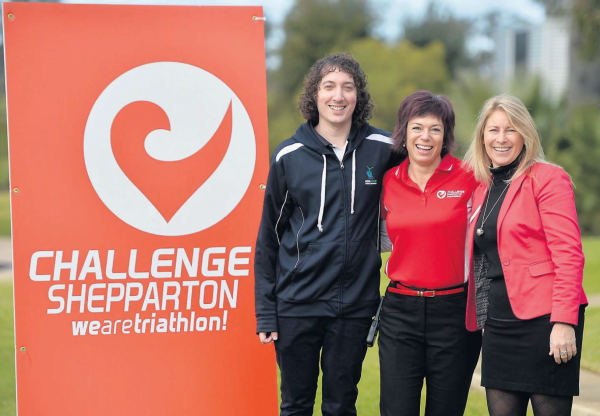 Challenge accepted: James Harrison from Aquamoves, Challenge Shepparton's Liz Connick and Community Fund Goulburn Valley chief executive Cheryl Hammer are excited about the new partnership that will donate money back into the community.