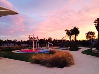 Splash Park - sunset