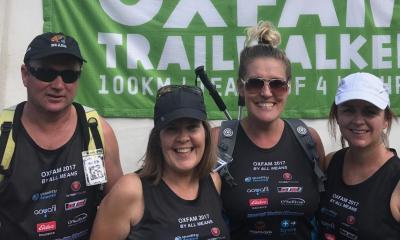 Team of four conquer Oxfam 100km Trailwalker