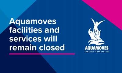 Aquamoves facilities and services currently closed