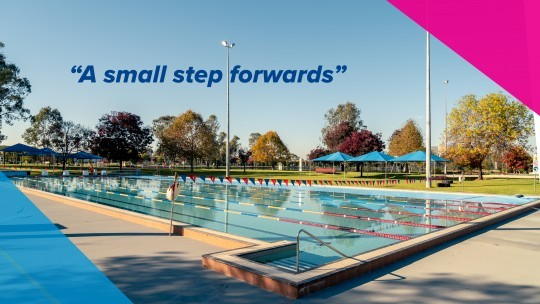A small step forwards - Outdoor 50m Pool is opening